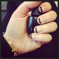 black french manicure!