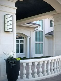 Modern architectural stone house design of real stone cut from Chantilly Lace natural stone for exterior stone cladding & details. Stone Facade, Stone Masonry, Stone Cladding, Stone Veneer, Bay Window Exterior, Porch Railings, Stone Panels, Stone Houses, Chantilly Lace