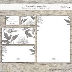 Stationary Set (100 Business Cards, 100 Letter Heads, 100 Compliment Slips)