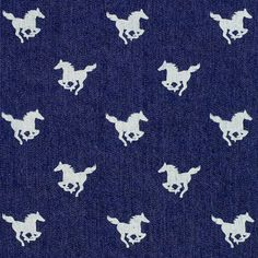Denim Little Horse 2 - Cotton - Polyester - Spandex - navy blue