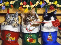 Linda Picken Art Studio / Stocking kitten Sylvester