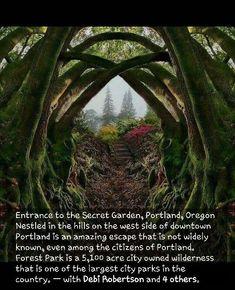 Secret Garden in Portland OR - Travel - # Secret . - Secret Garden in Portland, OR – Travel – - Oh The Places You'll Go, Cool Places To Visit, Places To Travel, Us Travel Destinations, Camping Places, Oregon Travel, Portland Oregon Hikes, Oregon Coast Roadtrip, Usa Roadtrip