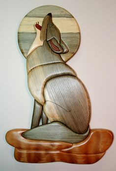 This first section shows Intarsia pieces that I have designed the patterns for and created. Intarsia Wood Patterns, Wood Carving Patterns, Bois Intarsia, Front Door Design Wood, Driftwood Sculpture, Deco Originale, Wood Mosaic, Wood Dog, Intarsia Woodworking