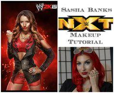 WWE | NXT Sasha Banks Makeup Tutorial Nxt Divas, Wwe Girls, Sasha Bank, Makeup Inspiration, Banks, Superstar, Wonder Woman, Superhero, Inspired