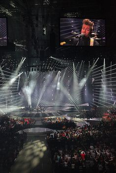 The arena in Düsseldorf for the 2011 Eurovision Song Contest