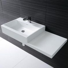 Laufen Living City washbasin asymmetrical white with 1 tap hole