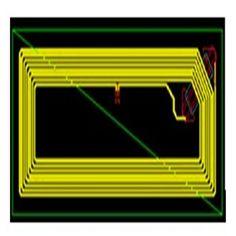 HF 14443A  RFID wet inlay 7424