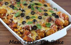 Mexi Tater Tot Bake | 100 Ways To Prepare Hamburger | Hamburger Recipes