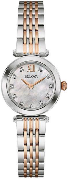 Bulova Men s 98C102 Crystal Black Stainless Bracelet Watch