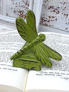 Cast Iron Door Stop  Dragonfly Shabby Chic Iron by CamillaCotton,