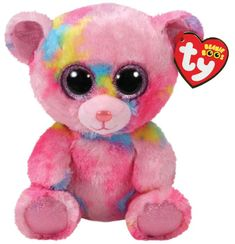 Buy Beanie Boos Franky Multi Bear Medium online or in store at Mr Toys. Browse our Ty Beanie Boos range at great prices. Ty Beanie Boos, Beanie Babies, Ty Boos, Ours Boyds, Big Eyed Stuffed Animals, Ty Peluche, Funko Pop, Brown Teddy Bear, Teddy Bears