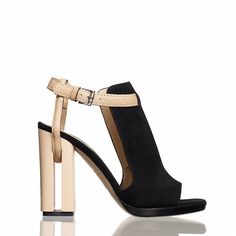 Reed Krakoff Cut-Out Heel Hooded Sandal (18,480 PHP) found on Polyvore