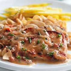 Pork Chops with Creamy Marsala Sauce