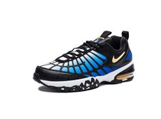 NIKE AIR MAX 120 - HYPER BLUE/BLACK/WHITE/CHAMOIS | Undefeated Air Max 120, Nike Air Max, Running Shoes, Footwear, Black And White, Sneakers, Blue, Fashion, Runing Shoes
