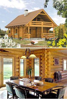 casas troncos madera - Buscar con Google