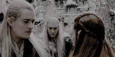 """middle-earth meme: four friendships [¾] —tauriel and legolas """"…if there is no place for Tauriel, there is no place for me. Fellowship Of The Ring, Lord Of The Rings, Nicole Evangeline Lilly, Orlando Bloom Legolas, Jared Harris, Lee Pace Thranduil, Legolas And Thranduil, Misty Eyes, Bagginshield"""