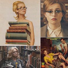 Here's a look at sexy librarians in pop culture. Sexy librarians are virtually my favourite kind of sexy--certainly my favourite kind of librarian! Naughty Librarian, Librarian Style, Librarian Humor, Library Week, Library Programs, Bibliophile, Book Lovers, Book Worms, Pop Culture