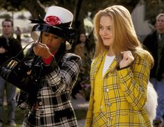 A+ movies for so many reason, not the least of which is Alicia's ability to pull off bright yellow plaid.