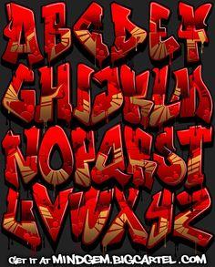Image of Graffiti Font - Crimson