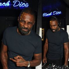 """Entertainment Prescription LLC on Instagram: """"DJ Idris on the 1's and 2's! The 2X SAG and Golden Globe Winning Actor was spotted last night spinning for a bit at 'The Black Dice' for a pre-BAFTA party in his honor."""