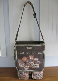 Scrapbooking tote is made by GoGini Totes  with Eclectic Elements by Tim Holtz fabric www.gogini12.blogspot.nl