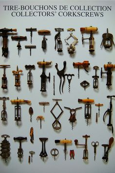 Corkscrews  Beso de Vino Saw the most fantastic collection of corkscrews in Napa Valley...hundreds of them!
