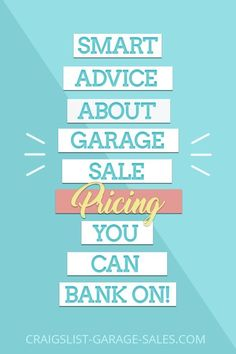 On the fence about how to price your garage sale items? Here's some smart advice about Garage Sale Pricing  you can bank on! #garagesalepricing #garagesaletips