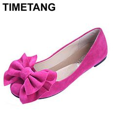new 2016 spring summer bow women single shoes flat heel soft bottom ballet work flats shoes woman moccasins size 35-43 free ship
