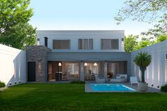 House Outside Design, House Front Design, Modern House Design, Casas Country, Spanish Style Homes, Concept Home, Home Projects, House Plans, Patio
