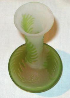 Emile Gallé Ferns Pattern Vase. Upper view