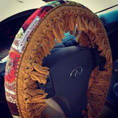 Hippie Chick Steering Wheel Cover by whoopsiedaisies, $25.00 #boho #retro