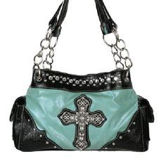 Image detail for -Turquoise Crackled JEWEL CROSS Wholesale Handbag #921RA/LCR