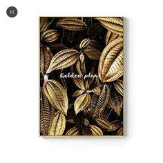 Abstract Tropical Gold Wall Art Nordic Style Golden Botanic Floral Fin – NordicWallArt.com Gold Wall Art, Leaf Wall Art, Wall Art Decor, Room Decor, Rooms Home Decor, Wall Decorations, Wedding Decorations, Wall Prints, Poster Prints