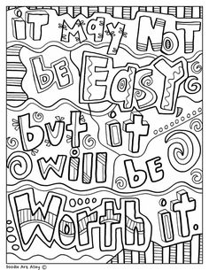 It may not be easy, but it will be worth it - Classroom Doodles from Doodle Art Alley