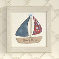Personalised Boat Embroidered Framed Artwork by Zoe Gibbons Studio, the perfect gift for Explore more unique gifts in our curated marketplace. Coastal Rugs, Coastal Bedding, Coastal Decor, Coastal Entryway, Coastal Furniture, Coastal Farmhouse, Coastal Cottage, Coastal Style, Coastal Living