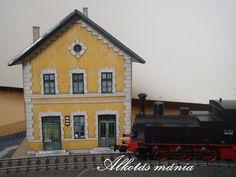 papír#makett#vasút#állomás#alkotás mánia