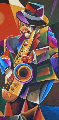 Jazz Sax Painting