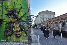 in the community space in Best Street Art, Street View, Elephant Artwork, West Berlin, Community Space, Brick Lane, City Art, Street Artists, Banksy