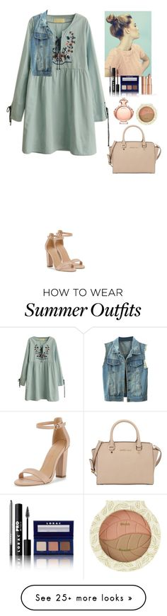 """""""Summer outfit Beautifulhalo"""" by eliza-redkina on Polyvore featuring LORAC, Paco Rabanne, MICHAEL Michael Kors, women's clothing, women's fashion, women, female, woman, misses and juniors"""