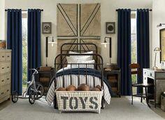 Boys room with nautical theme.