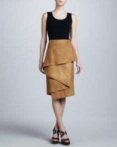 Michael Kors - Brown Hemp Sarong Skirt