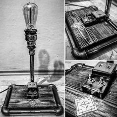 Lamp steampunk loft industrial USB edison  Zobacz na Instagramie zdjęcie użytkownika @supernalgaragedg • Polubienia: 5