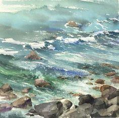 WATERCOLOR by Kanta Harusaki/Japan !!!!@@@¡¡¡¡....http://www.pinterest.com/laniehelena/by-the-beautiful-sea/