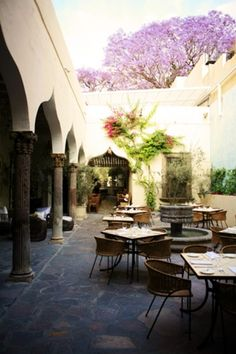 Mexican decor: The Restaurant . One of the best in San Miguel de Allende, Mexico.