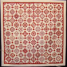 Awesome Red & White Quilt from Road To California Quilt Show.  Photo by Lisa Bongean.