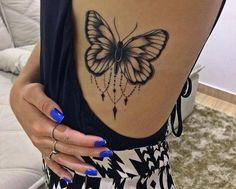 Mariposa - Tatuajes para Mujeres. Encuentra esta muchas ideas mas de Tattoos. Miles de imágenes y fotos día a día. Seguinos en Facebook.com/TatuajesParaMujeres!