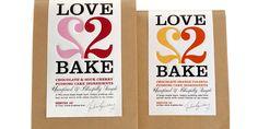 DesignBridge, an international branding firm, created this packaging for chef Julia Barclay's pre-measured Baking Kits, Love 2 Bake.