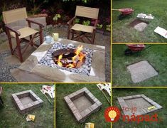 DIY Fireplace Ideas - Outdoor Firepit On A Budget - Do It Yourself Firepit Projects and Fireplaces for Your Yard, Patio, Porch and Home. Outdoor Fire Pit Tutorials for Backyard with Easy Step by Step Tutorials - Cool DIY Projects for Men and Women Large Fire Pit, Easy Fire Pit, Metal Fire Pit, Concrete Fire Pits, Backyard Projects, Outdoor Projects, Diy Projects, Backyard Ideas, Garden Ideas