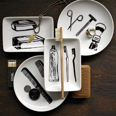 West Elm offers modern furniture and home decor featuring inspiring designs and colors. Create a stylish space with home accessories from West Elm. Modern Serveware, Decoupage, Men's Grooming, Groomsman Gifts, West Elm, White Porcelain, Gifts For Him, Men Gifts, Home Accessories