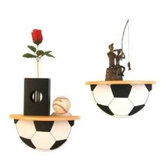 Soccer Wall Shelf Set (2 Piece)